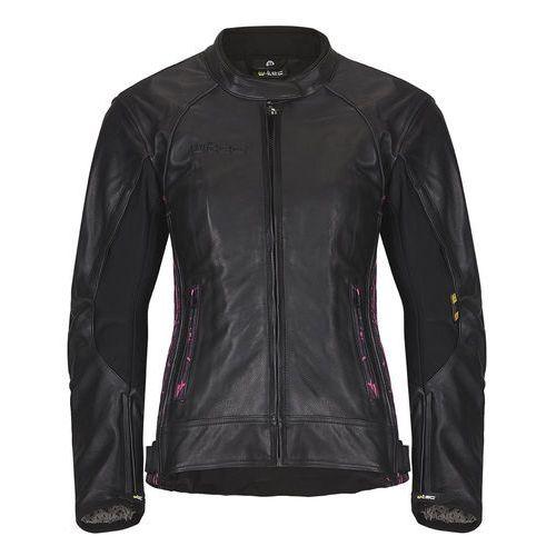 Damska skórzana kurtka motocyklowa W-TEC Caronina NF-1174, Czarno-różowy, XL, skóra