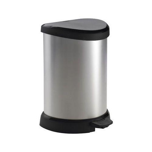 CURVER KOSZ NA ŚMIECI METALIZOWANY 20L - Czarny/Srebrny metalizowany