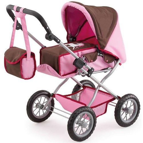 Bayer Design Wózek dla lalek Kombi Grande, brązowy/różowy - produkt z kategorii- wózki dla lalek