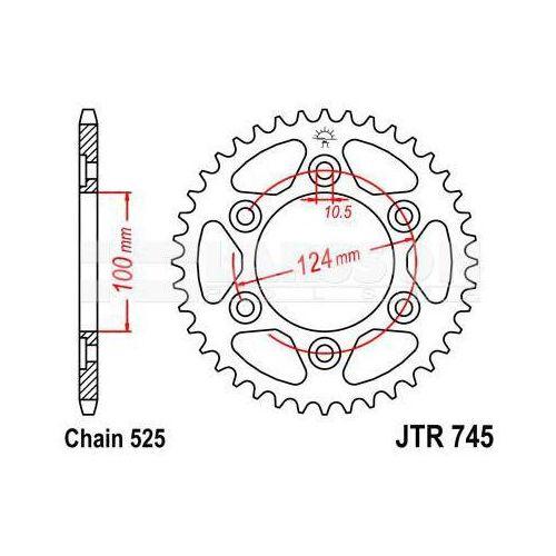 Zębatka tylna stalowa JT 745-39, 39Z, rozmiar 525 2301896 Ducati Supersport 1000