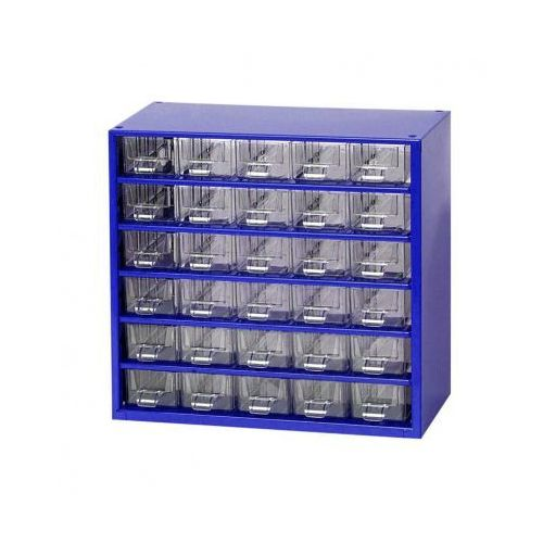 Metalowe szafki z szufladami, 30 szuflad