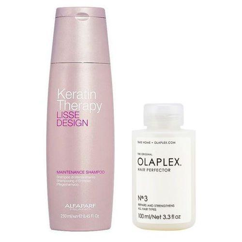 Alfaparf keratin therapy maintenance and hair perfector no.3 | zestaw wygładzająco-regenrujący do włosów: szampon podtrzymujący efekt wygładzenia 250ml + regenerująca kuracja do włosów 100ml