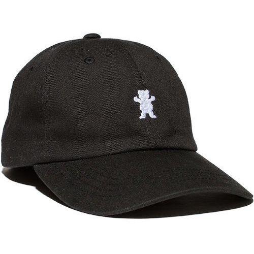 czapka z daszkiem GRIZZLY - Og Dad Bear Logo Hat Black/White (BKWH), kolor biały