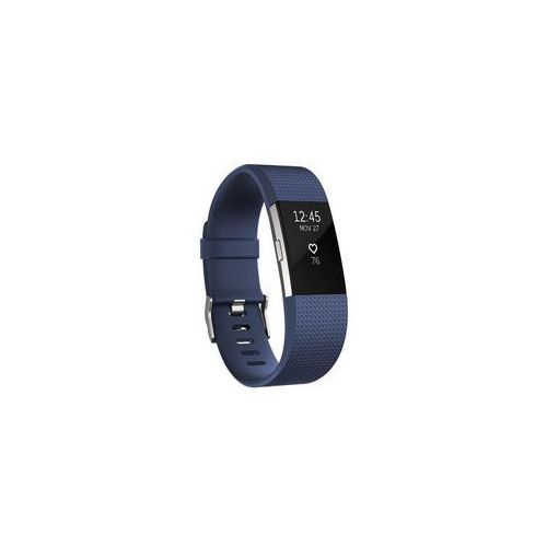Fitbit opaska charge 2, niebiesko/srebrna (blue/silver), mała (s)
