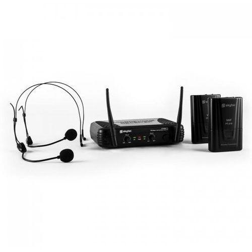 Skytec stwm712h zestaw mikrofonów bezprzewodowych vhf 2 x słuchawki
