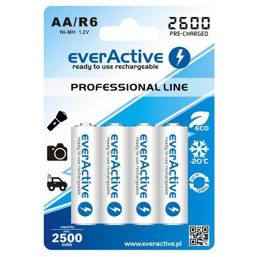 4x akumulatorki everActive R6/AA Ni-MH 2600 mAh ready to use