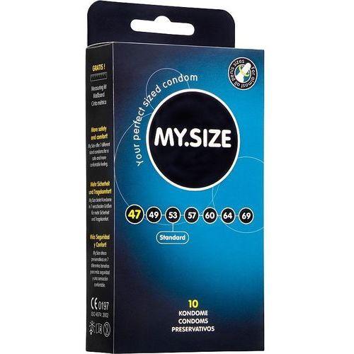"""MY.SIZE """"47"""" - dobrane do obwodu 9,5 - 10,0 cm (10 szt.) - NATYCHMIASTOWA WYSYŁKA ZA 7,99zł + 100% DYSKRECJI (4025838830113)"""
