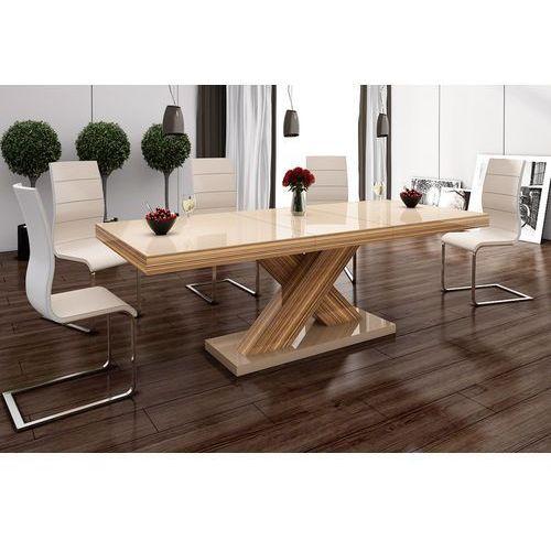 Stół rozkładany w wysokim połysku Xenon cappucino