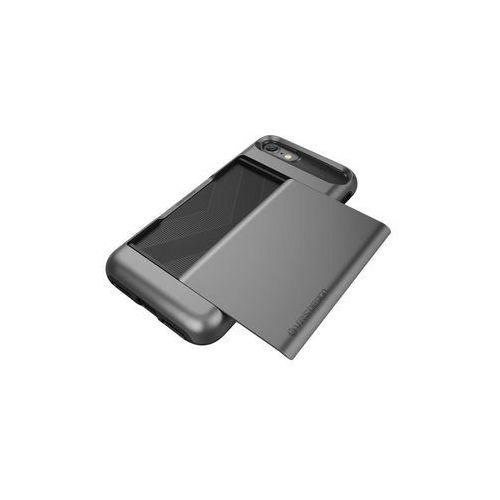 Vrs design Etui damda glide do iphone 7 srebrno-stalowy (8809477682670)