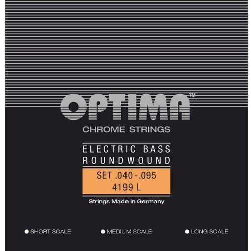 Optima 4199l (680465) struny do gitary basowej chrome strings round wound long scale komplet