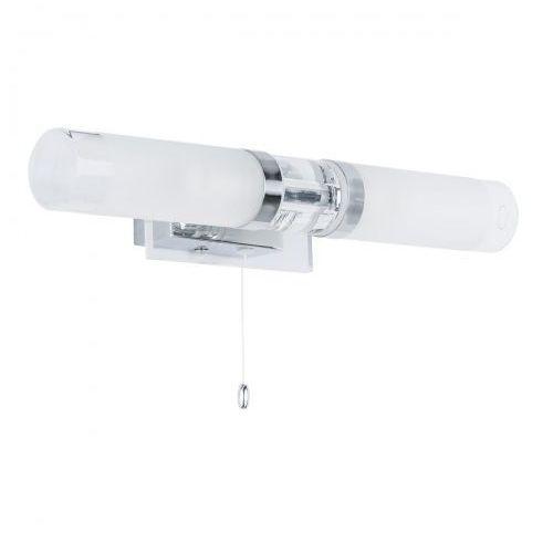Italux Kinkiet lampa ścienna hook mb030101-2c łazienkowa oprawa galeryjka nad lustro chrom biała