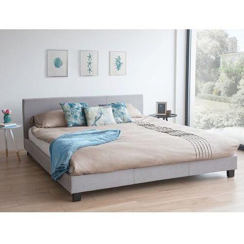 Łóżko szare - do sypialni - 160x200 cm - podwójne - tapicerowane - orelle marki Beliani