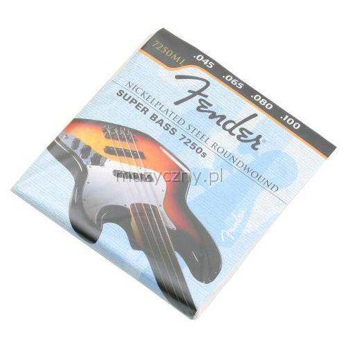 Fender 7250ml nickel plated struny do gitary basowej 45-100