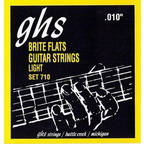 brite flats struny do gitary elektrycznej, light,.010-.046 marki Ghs