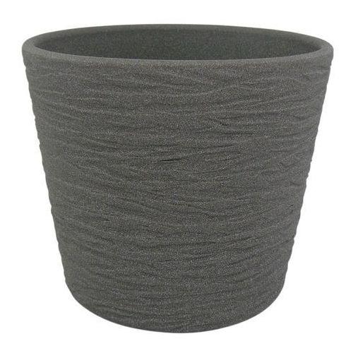 Cermax Osłonka doniczki 17 cm ciemny grafit struktura