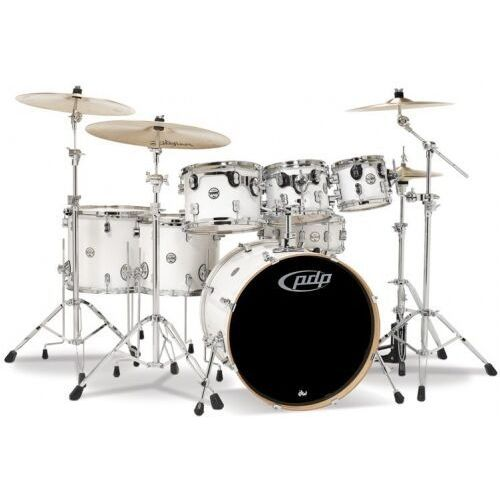 Pdp by dw drumset concept maple, pearlescent white