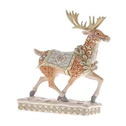 Jim shore Renifer zimowa przygoda czeka adventure awaits (white woodland reindeer) 6001411