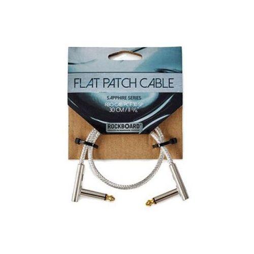 Rockboard flat patch cable sapphire 30 cm kabel połączeniowy z wtykiem kątowym