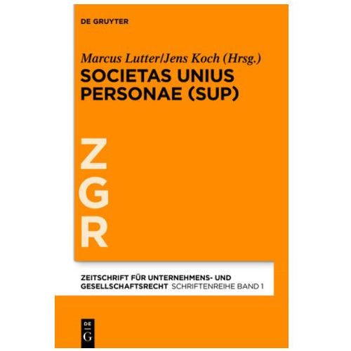 Societas Unius Personae (9783110426618)