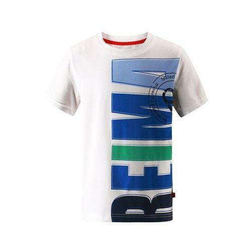 Reima T-shirt koszulka z krótkim rękawem  haileri biało/niebieska (6416134600889)