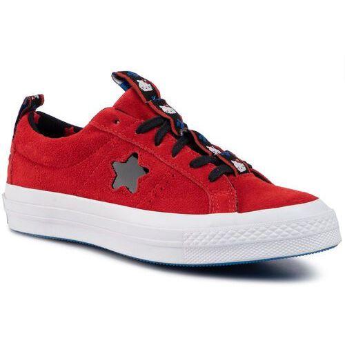 Tenisówki CONVERSE - One Star Ox 163905C Fiery Red/Black/White