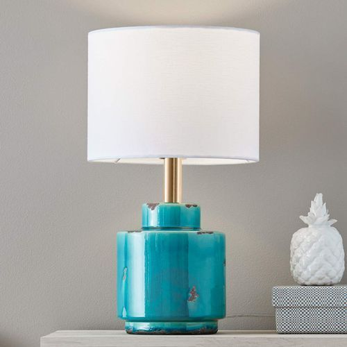 Lampa stołowa Cous E27 1 x 60 W niebiesko-biała