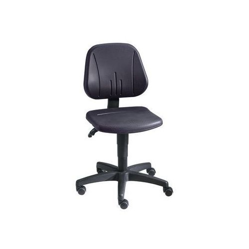 Bimos Obrotowe krzesło do pracy z regulacją wysokości sprężyną gazową,pianka pu, czarna