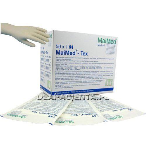MAIMED Maxitex - rękawice lateksowe sterylne lekko pudrowane - rozm. 6,5