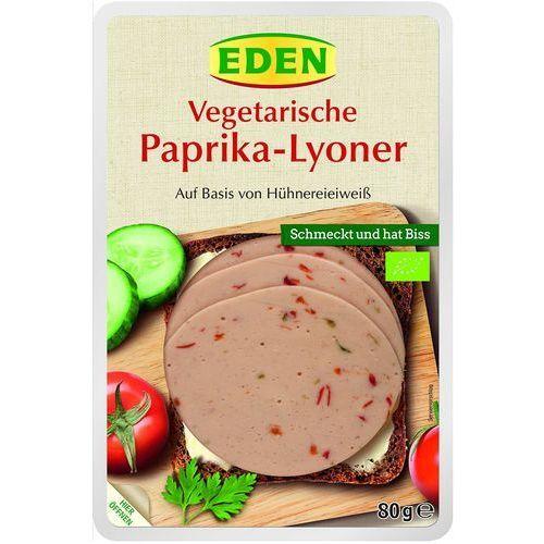 Produkt wegetariański lyoner z papryką bio 80 g - eden marki Eden (soki warzyw., płatki śniad., pasztety kanap