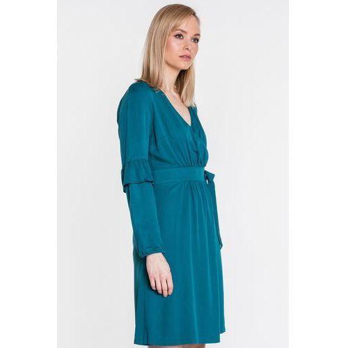6a00bc1bd0 Morska sukienka kopertowa z falbankami - marki Mũso 379