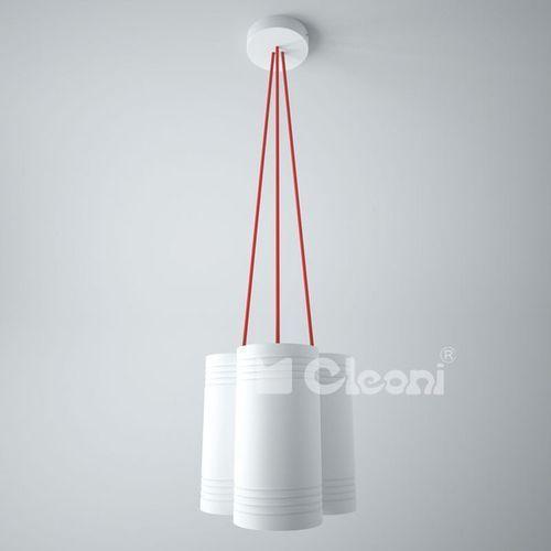 Lampa wisząca celia a3 z zielonymi przewodami żarówki led gratis!, 1271a3d+ marki Cleoni