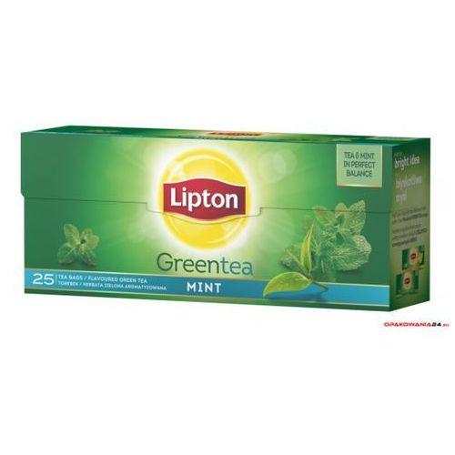 Herbata LIPTON GREEN MINT 25 torebek zielona mięta