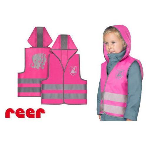 Kamizelka odblaskowa, xs, dla dzieci 2 lata+, - różowy marki Reer