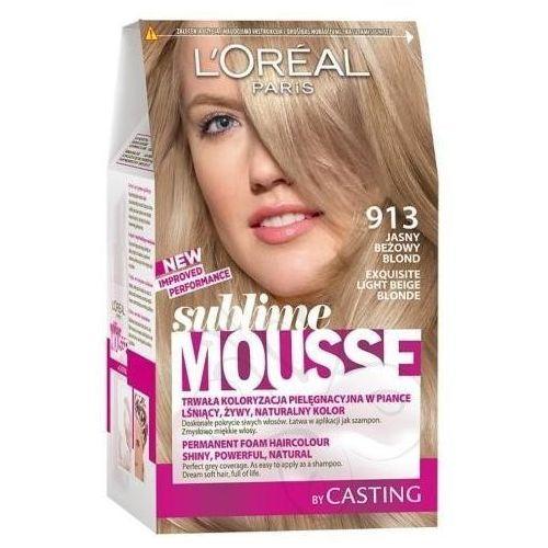 Sublime Mousse farba do włosów 913 jasny beżowy blond, L'Oreal Paris
