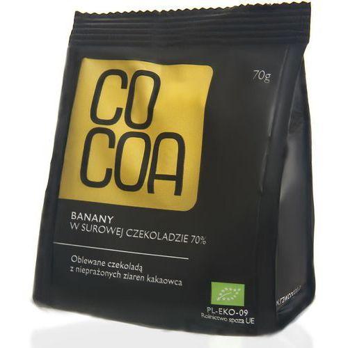 Cocoa Banany w surowej czekoladzie bio 70g - (5902768064292)