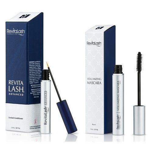 Revitalash zestaw   eyelash conditioner advanced 2,0ml + volumizing mascara raven 7,4ml