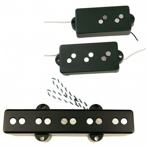 Nordstrand Bass przetworniki - NP5V + NJ5 - Single Coil, Bridge / 5-string (Black)
