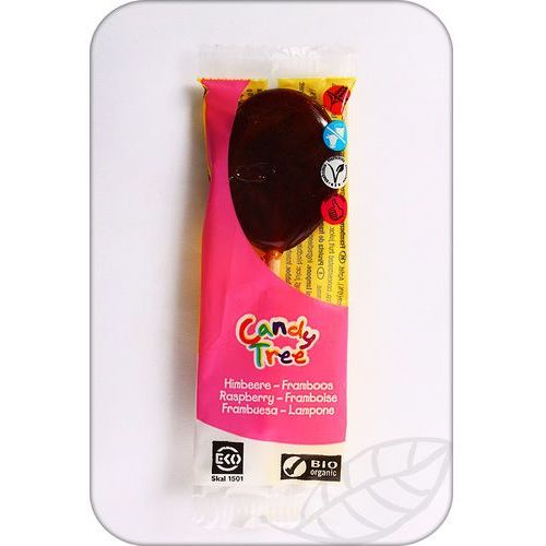 : lizak smak malinowy bio - 13 g marki Candy tree