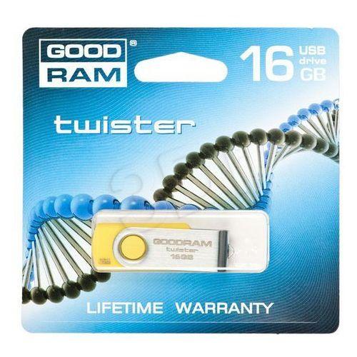 GOODDRIVE FLASHDRIVE 16GB USB 2.0 Twister Yellow, kup u jednego z partnerów