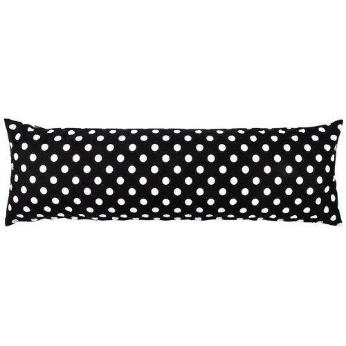 4Home Poszewka na poduszkę relaksacyjną Mąż zastępczy Czarna kropka, 50 x 150 cm