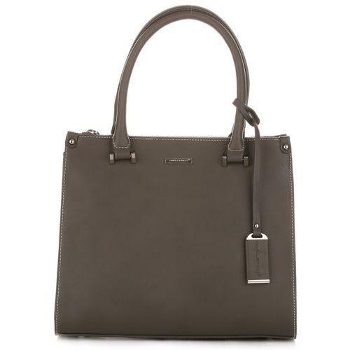 6eea8ea5e606b torebki damskie typu kuferki ciemo szary marki David jones 139,00 zł  Kuferek to torebka, która wytwarza kobiecy, wysmakowany wizerunek.
