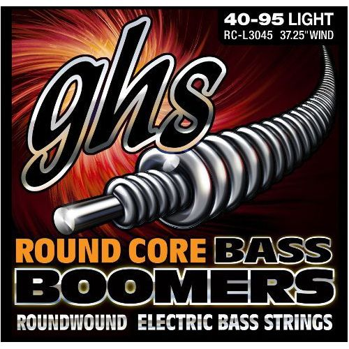 GHS Round Core Bass Boomers struny do gitary basowej, 4-str. Heavy,.040-.095