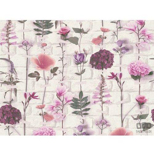 A.s. creation Tapeta ścienna w kwiaty cegła urban flowers 32725-1 as creation