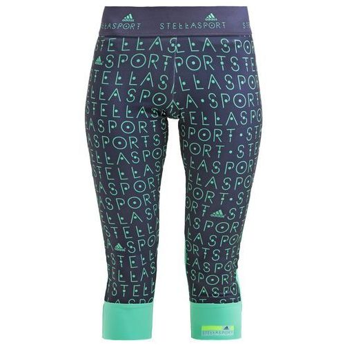 adidas Performance STELLA SPORT Legginsy midnight grey/bright green, rozmiar od 34 do 36, niebieski