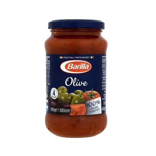 Barilla 400g olive sos pomidorowy z zielonymi i czarnymi oliwkami do makaronu