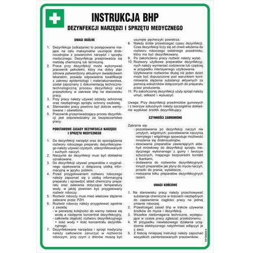 Instrukcja bhp dezynfekcji narzędzi i sprzętu medycznego marki Znak-bhp