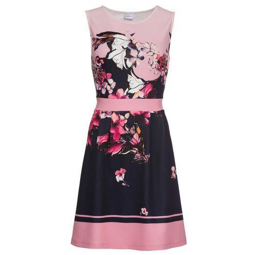 9e308c116e Sukienka w kwiaty bonprix jasnoróżowy z nadrukiem 109