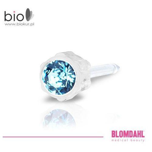 Kolczyk do przekłuwania uszu - aquamarine 4 mm marki Blomdahl