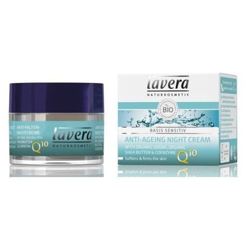 260lavera Krem przeciwzmarszczkowy na noc z koenzymem q10 z bio-jojobą i bio-masłem shea 50 ml lavera