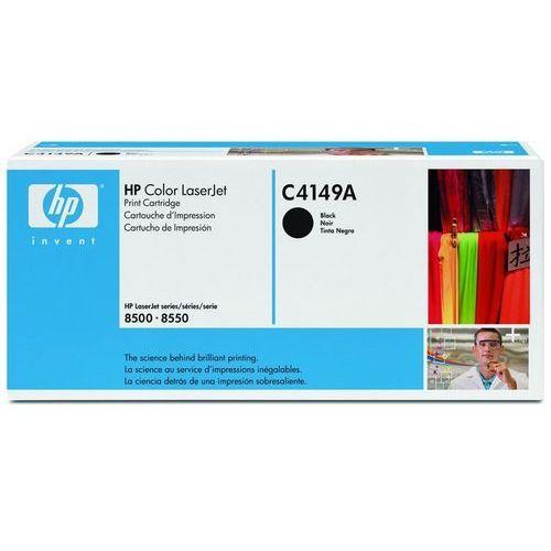Hewlett-packard Wyprzedaż oryginał toner hp color laserjet 8500, 8550, czarny black, pudełko zastępcze, oryginalny airbag/folia